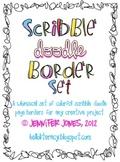 Clip Art:Scribble Doodle Borders/Frames Bundle (Set of 9)