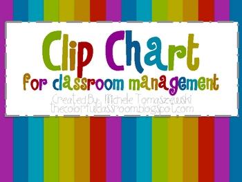 Clip Chart for Behavior Managment