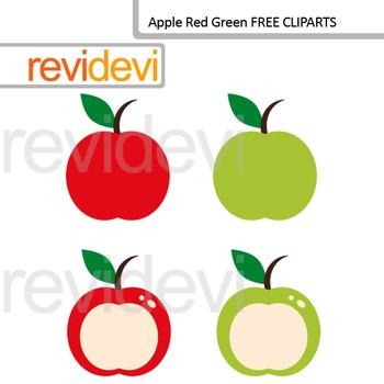 Clip art Apple Red Green (free clipart) teacher resource