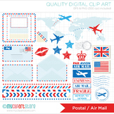 Clipart - Air Mail / Postal