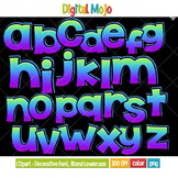 Clipart - Decorative Font, Blend Series 1 Lowercase