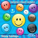 Clipart: Happy Faces - Shiny Smileys Clip Art Set