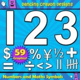 Clipart: Numbers and Maths Symbols Clip Art Set