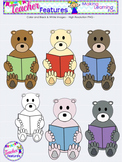 Clipart: Reading Bears & Signs