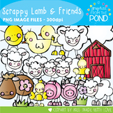 Clipart - Scrappy Lamb and Friends