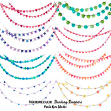 Clipart - Watercolor Bunting Banners