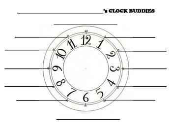 Clock Buddies Partner Worksheet