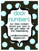 Clock Numbers - 3 Styles Zip file