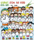 Clock Stick Kids - Clipart for Teaching