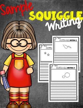 Squiggle Writing Morning Work Sample