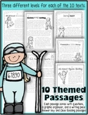 Close Reading: 10 Winter Sports Themed Passages w/ Text Ev