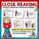 Close Reading Anchor Charts - Grades 1-3