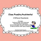 Close Reading Bookmarks! - (FREEBIE)