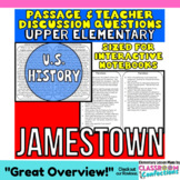 Jamestown {Close Reading Passage for UPPER ELEMENTARY}