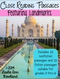 Close Reading Passages Featuring Landmarks for Grades 3-6