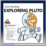 Close Reading - Exploring Pluto
