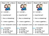 Close Reading Think Mark Bookmark Read with a Pencil