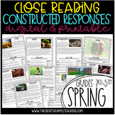 Close Reading with Constructed Response Seat Work: Spring