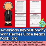 American Revolutionary War Heroes- 3rd Grade