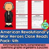 American Revolutionary War Heroes- 4th Grade