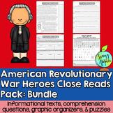 Close Reads Pack: American Revolutionary War Heroes- Bundle