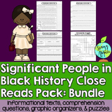 Close Reads Pack: Significant People in Black History- Bundle
