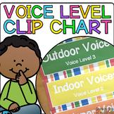 Clothespin Voice Level Chart Kit {Rainbow Stripes}