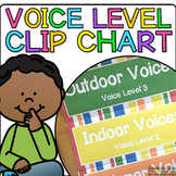 Clothespin Voice Level Chart Kit {Rainbow Stripes}