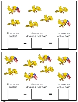 Clumsy Eagles: subtraction fun
