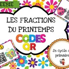 FRENCH/Codes QR IPAD /Les fractions du printemps