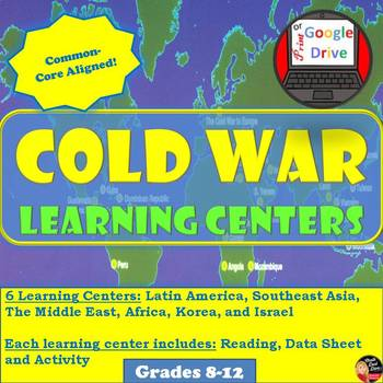 Cold War - Learning Centers -student centered activity (World History)