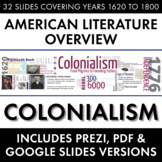 Colonialism, American Literature Movement, from Puritans t