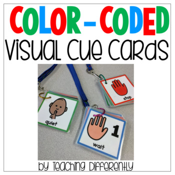 Color Coded Visual Cue Cards