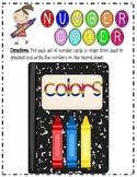 Color Day Number Order