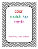Color Match up Cards in Chevron Print