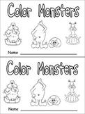 Color Monsters Emergent Reader- Preschool Kindergarten- Co