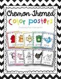 Color Posters {chevron print}