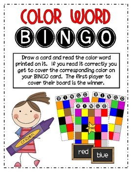 Color Word Bingo
