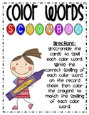 Color Word Letter Tiles Scramble