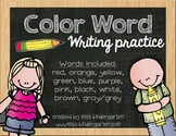 Color Word Writing Practice