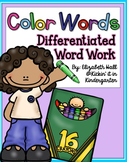 Color Words- Differentiated Word Work