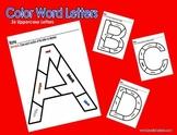 Color Words-Letters