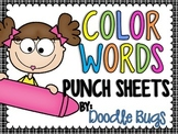 Color Words Punch Sheets / Printables
