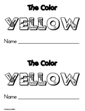 Color Yellow Emergent Leveled Reader Book ** Perfect for R