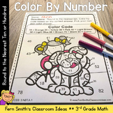 Color By Numbers Rounding to the Nearest Ten or Hundred