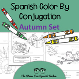 Color by Conjugation: Spanish, Autumn, Back to School, Tha