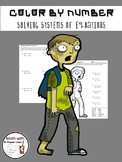 Zombie Color by Number:  Solving Systems of Equations