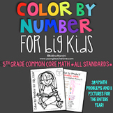 Color by Number for Big Kids {5th Grade Common Core Math *