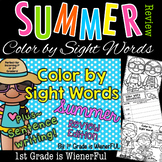 Color by Sight Words-Summer Review Edition~ For incoming 1