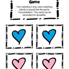 Colored Hearts Memory Card Game - Valentine's Day Theme